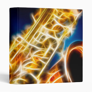 Saxophone - Fractal 3 Ring Binder