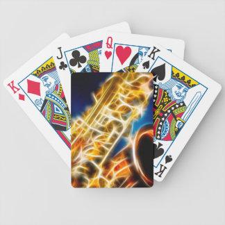 Saxophone Fractal Bicycle Playing Cards