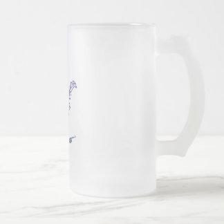 Saxophone Frosted Glass Beer Mug