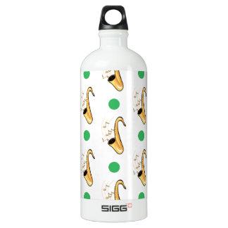 Saxophone, Green & White Polka Dots SIGG Traveler 1.0L Water Bottle