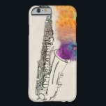 "Saxophone Healing Barely There iPhone 6 Case<br><div class=""desc"">Pen and ink drawing and paint</div>"