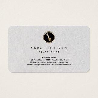 Saxophone Icon Saxophonist Premium BusinessCard Business Card