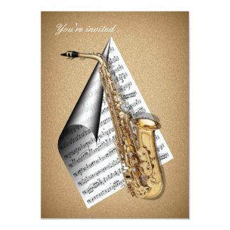 Saxophone invitation Cards