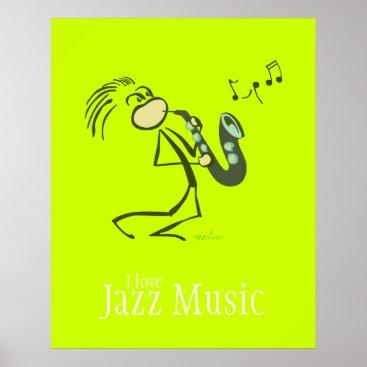 Saxophone Jazz Music Poster