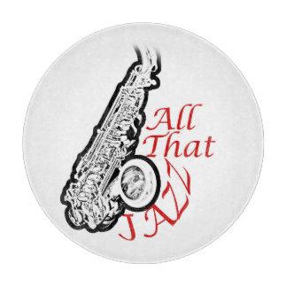 Saxophone Jazz Musician Band Kitchen Plate Cutting Board
