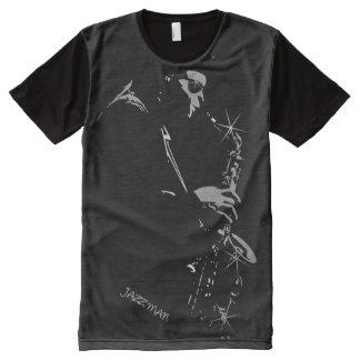 Saxophone Jazz Player Art All-Over Print T-shirt