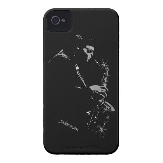 Saxophone Jazz Player Art Design iPhone 4 Cover