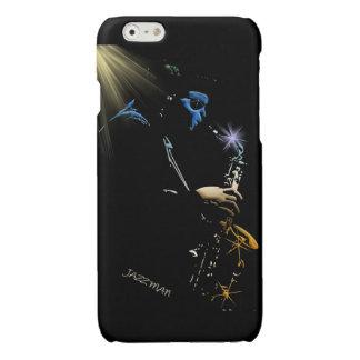 Saxophone Jazz Player Art Designer Glossy iPhone 6 Case