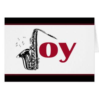 Saxophone Joy Black Red Card