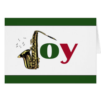 Saxophone Joy Red Green Card