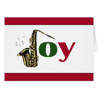 Saxophone Joy Red White Card