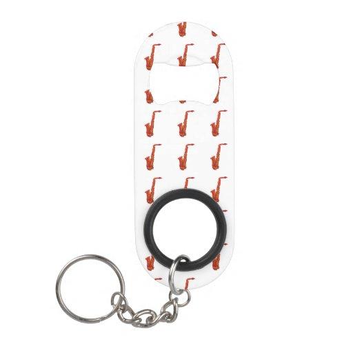 saxophone keychain bottle opener zazzle. Black Bedroom Furniture Sets. Home Design Ideas