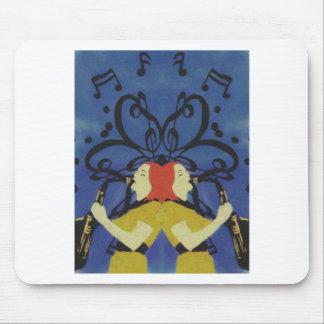 Saxophone Ladies Mouse Pad