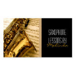 Saxophone Lessons, Music, Instrument Business Card Standard Business Cards