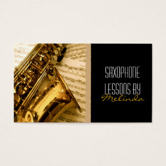 Saxophone Lessons, Music, Instrument Business Card
