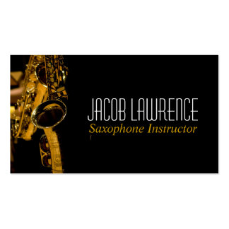 Saxophone Lessons Music Instrument Business Card