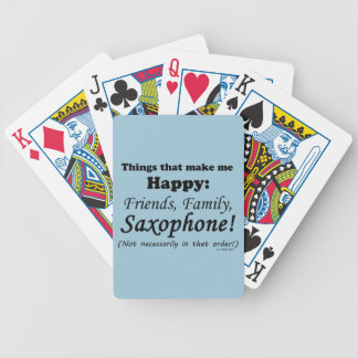 Saxophone Makes Me Happy Bicycle Playing Cards