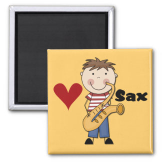 Saxophone - Male Tshirts and Gifts 2 Inch Square Magnet
