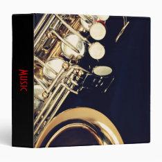 Saxophone Music Binder at Zazzle