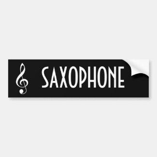 Saxophone Music Bumper Sticker Gift