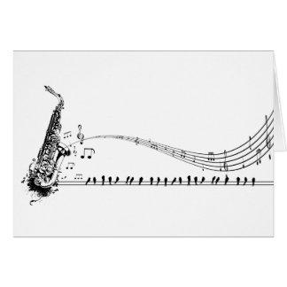 Saxophone Music Card