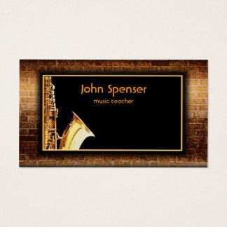 Saxophone Music Gentleman Club Card