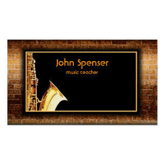 Saxophone Music Gentleman Club Card Double-Sided Standard Business Cards (Pack Of 100)
