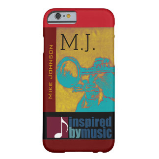 saxophone music inspired graphic barely there iPhone 6 case