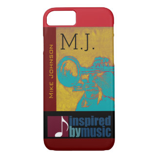 saxophone music inspired graphic iPhone 8/7 case