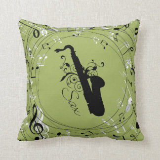 Saxophone Music Instrument Throw Pillow Gift