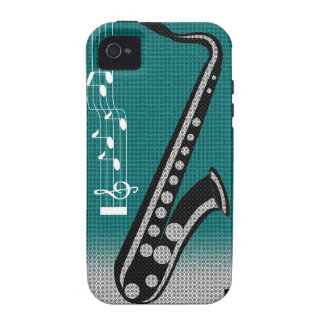 Saxophone Music iPhone 4 Case-Mate Case
