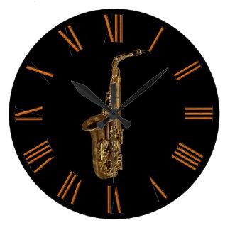 Saxophone Music-lover's Wall Clock