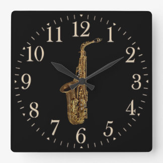 Saxophone Music-lover's Wall Clock