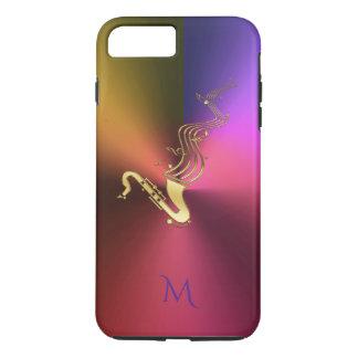 Saxophone Music Metallic Monogram iPhone 7 Plus iPhone 7 Plus Case