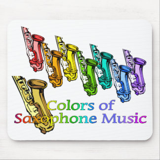 Saxophone music mouse pad