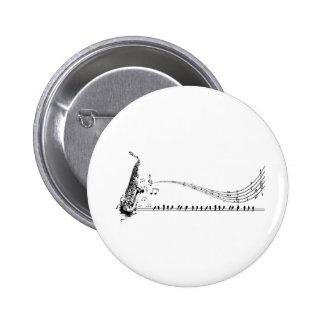 Saxophone Music Pinback Button