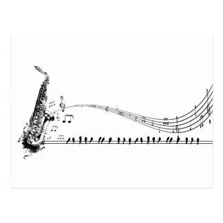 Saxophone Music Postcard