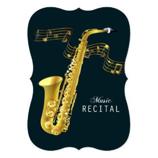 Saxophone Music Recital Invitation