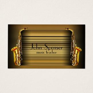 Saxophone Music Teacher Retro Business Card