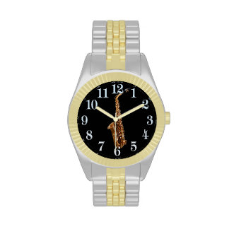 Saxophone Music-Themed Musician's Gift Wristwatches