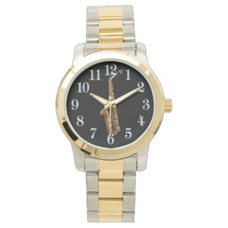 Saxophone Music-Themed Musician's Gift Wrist Watch