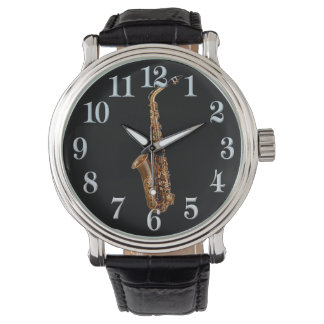 Saxophone Music-Themed Musician's Gift Wristwatch