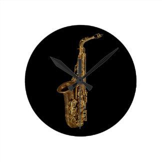 Musical Instrument Design Wall Clocks Zazzle