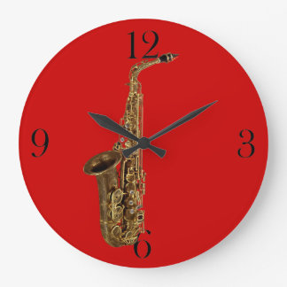 Saxophone Music-Themed Wall Clock