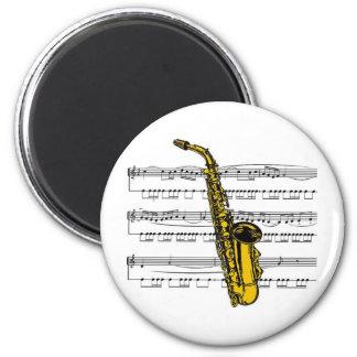 Saxophone musical 13 B Refrigerator Magnet