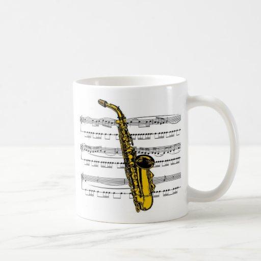 Saxophone musical 13 B Mug