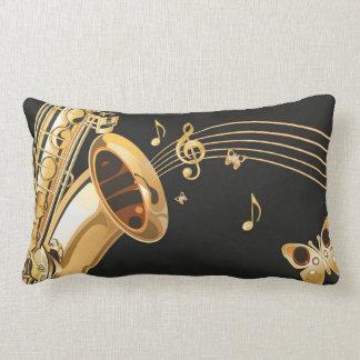 Saxophone notes lumbar pillow