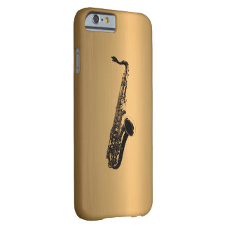 Saxophone on Bronze Copper Effect Barely There iPhone 6 Case