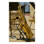 Saxophone on Stand at Jazz Recital Poster