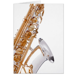 Saxophone on White Card